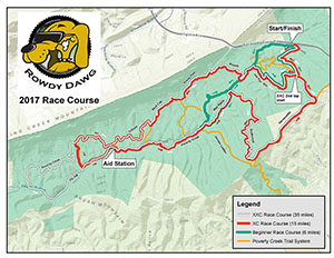 Rowdy Dawg race course map